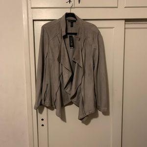 Mink color INC shawl collar jacket